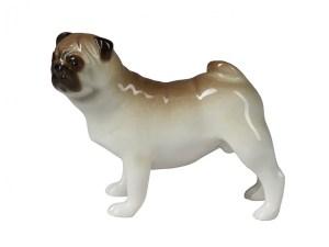 Dog figurine Pug standing