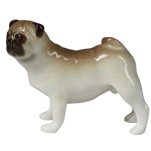 Dog figurine Pug standing