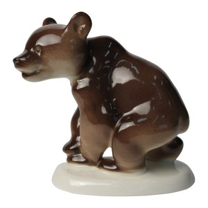 Porcelain figurine Bear cub walking