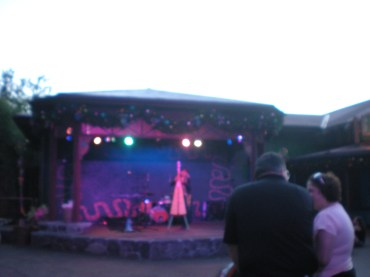 One of the performers