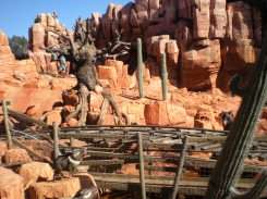 View of Big Thunder Mountain Railroad from the queue