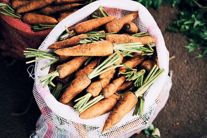 Community Support Agriculture provides fresh carrots from local farms