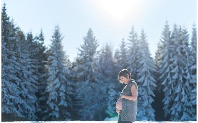 Séance grossesse – Neige – Alsace