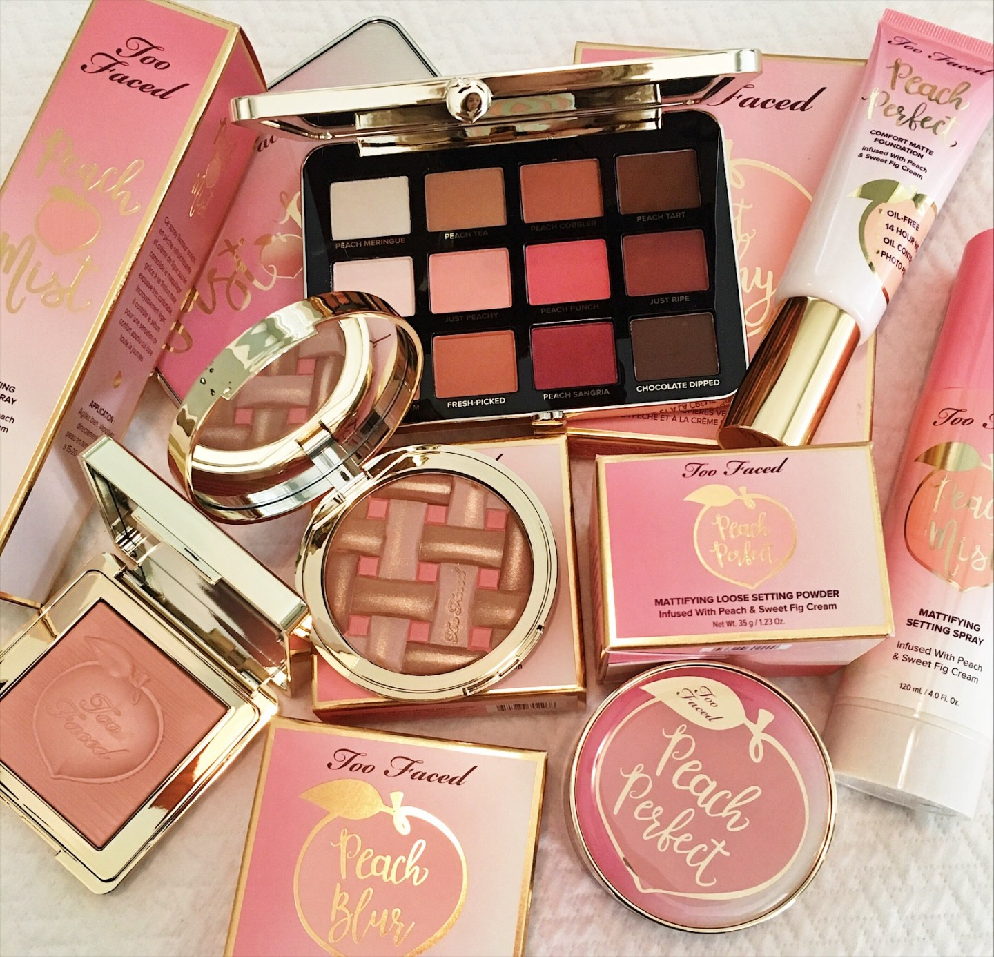 Too Faced Peaches and Cream Swatches Too Faced Peaches and Cream Review