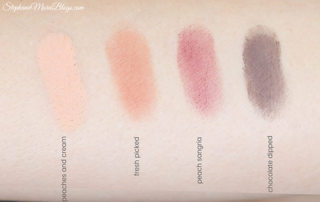 Too Faced Just Peachy Matte Swatches Too Faced Peach Palette Swatches