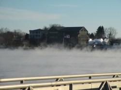 Freezing morning mist