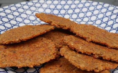 Tomato Herb Flaxseed Crackers