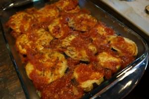 Eggplant layer sauce