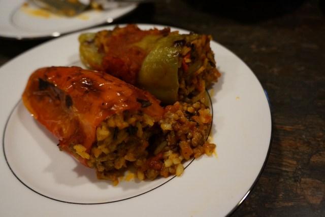 Stuffed cubanelle plated