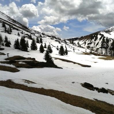 Auf Meran 2000 liegt noch Schnee.