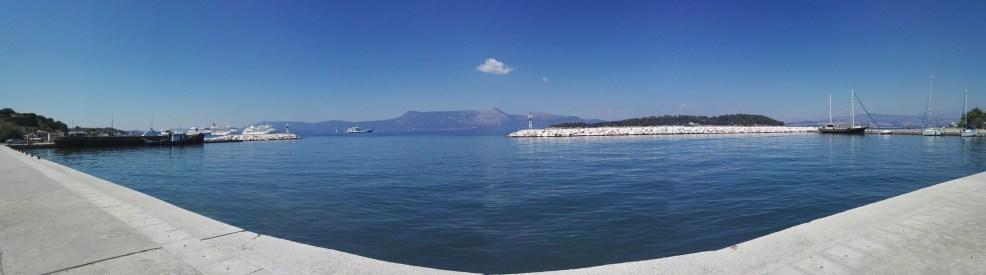 Korfu-Stadt Panorama, alter Hafen