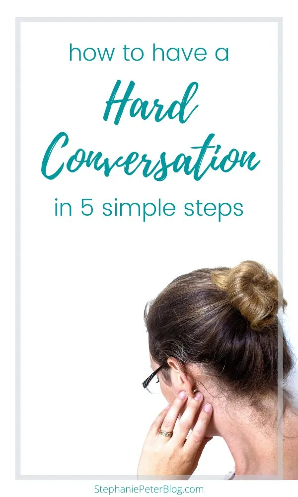 having a hard conversation