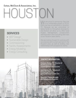 EMA Houston Flyer, front, introducing Houston location