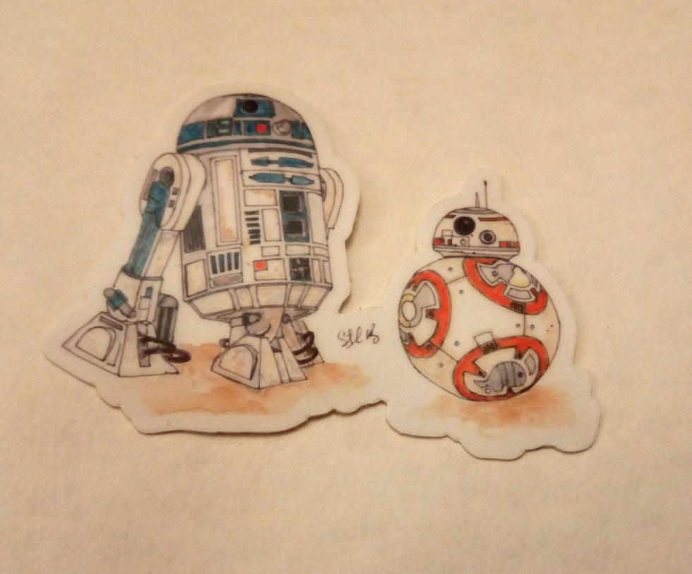 R2D2 and BB8 Sticker