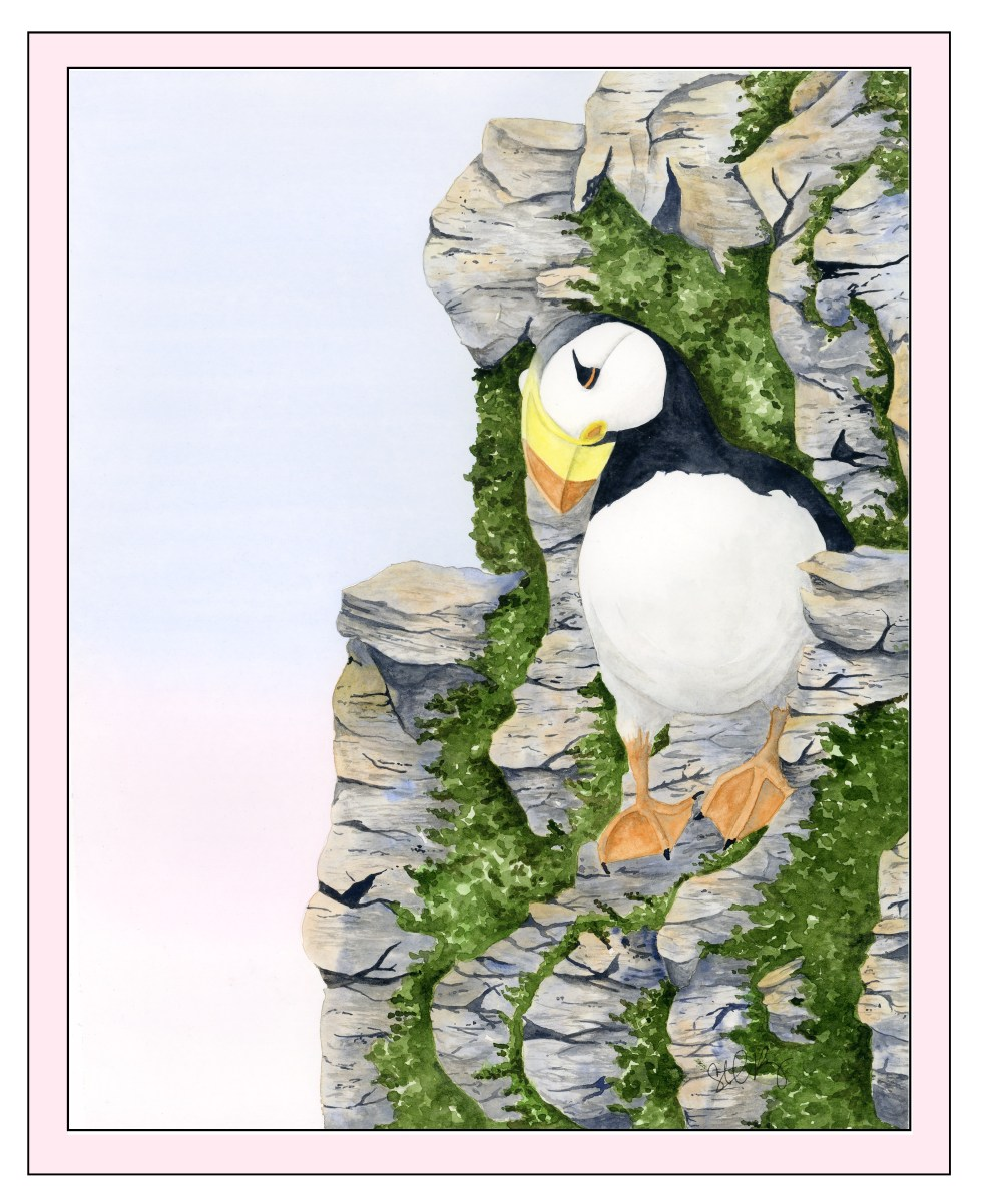 Puffin Fabric Panel