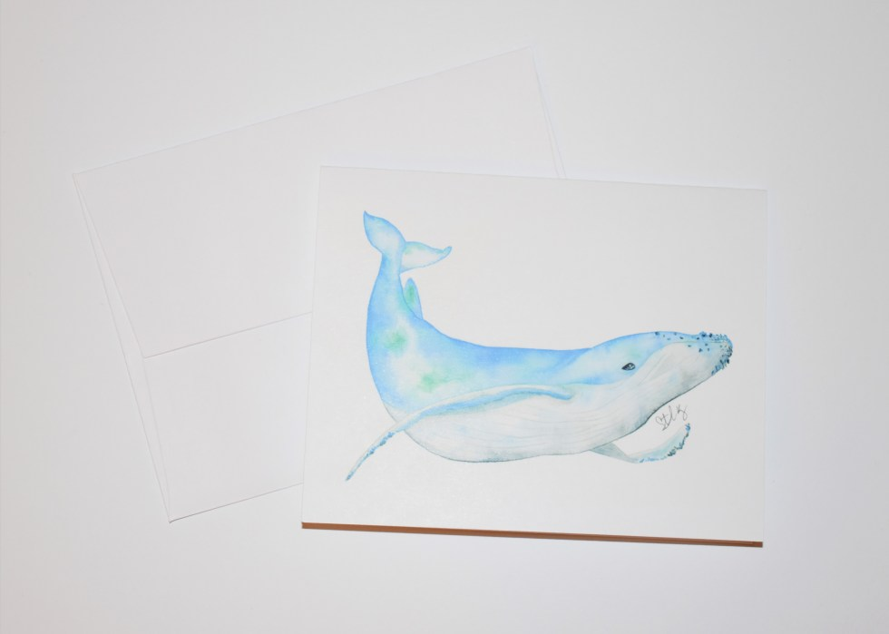 Blue Whale Note Card