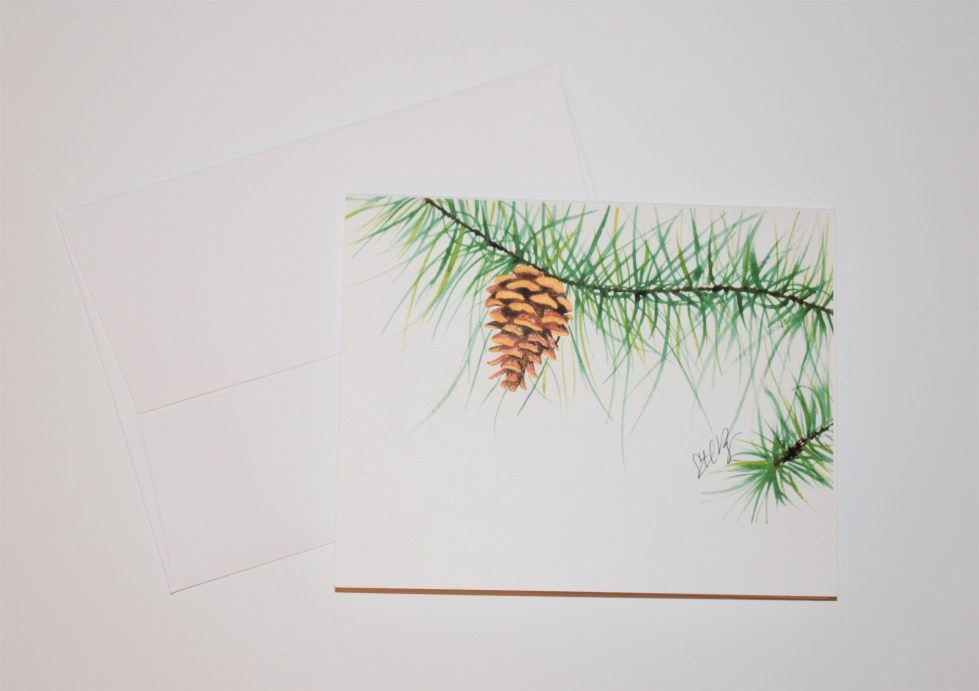 Pinecone Note Card