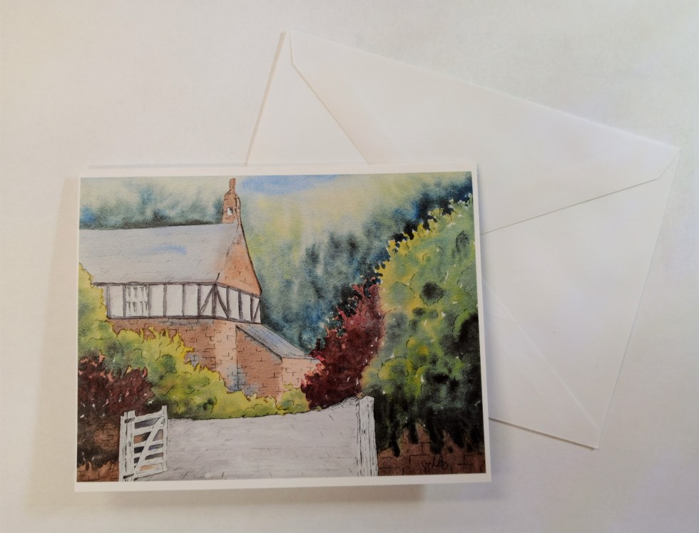 English Cottage Note Card