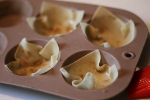 Mini Apple Pie Wontons