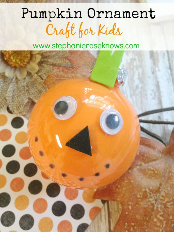 Pumpkin Ornament Craft
