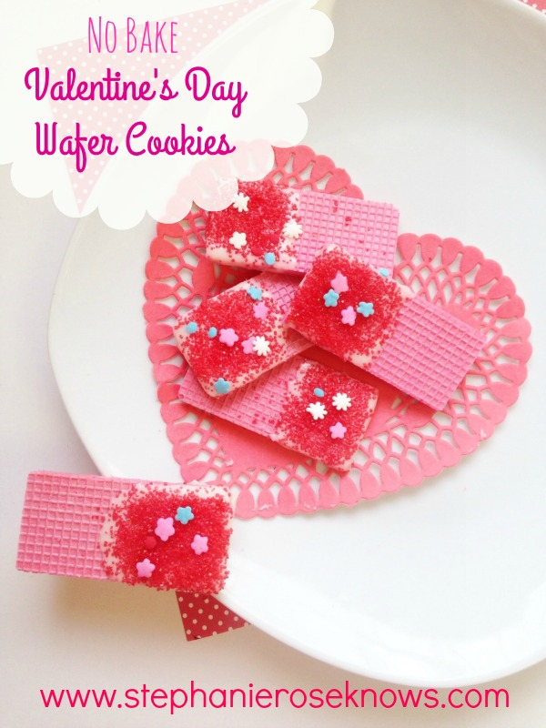 Easy Valentine's Day Dipped Sugar Wafers