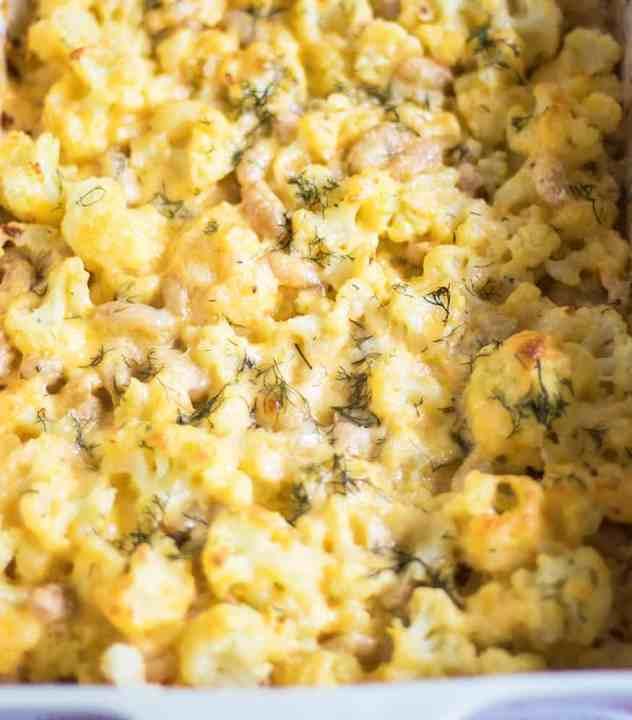 Cauliflower & Cannelli Bean Mac n Cheese