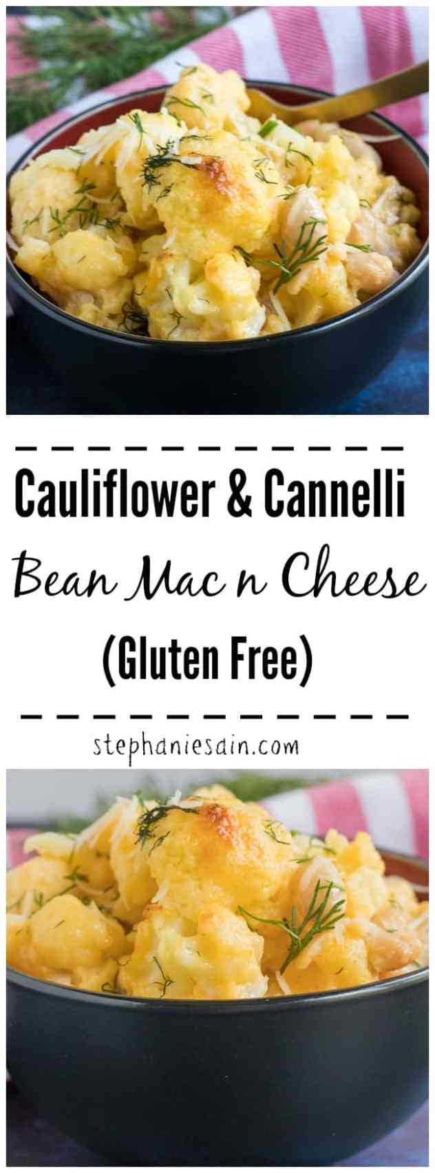 This Cauliflower & Cannelli Bean Mac n Cheese is easy, creamy and delicious. A healthier version for mac n cheese using just veggies and cheese. A comfort food loaded with flavor that's perfect for gatherings, potlucks or a family friendly meal. Gluten Free & Low carb.