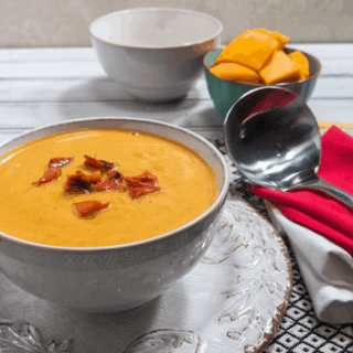 Roasted Butternut Squash & Red Pepper Soup