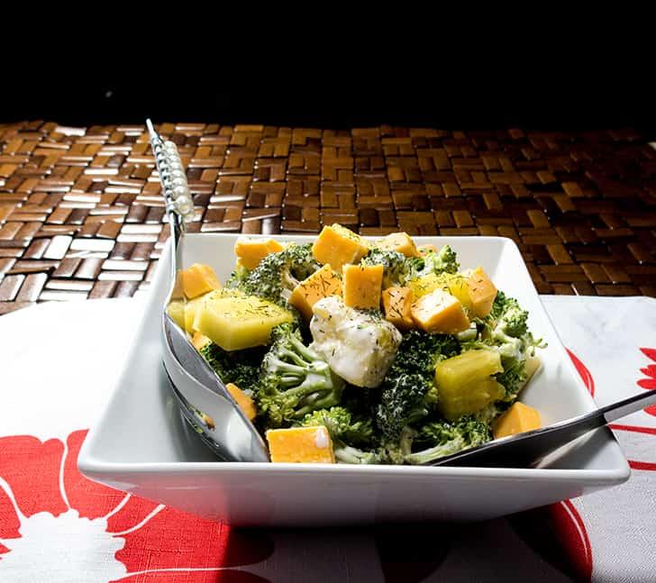 Pineapple Broccoli Salad