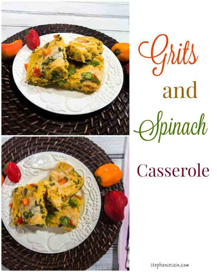 Grits and Spinach Casserole