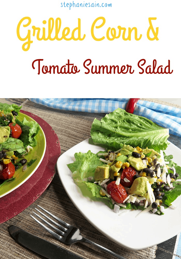 Grilled Corn & Tomato Summer Salad
