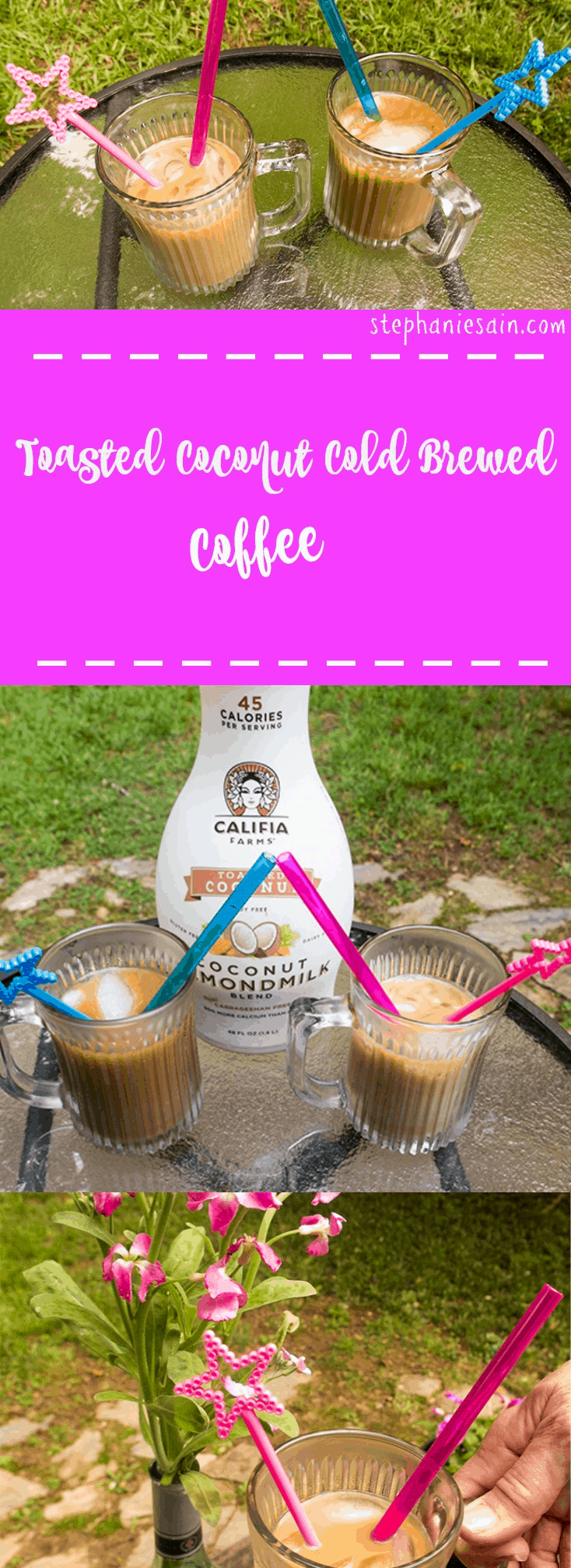 Toasted Coconut Cold Brewed Coffee is a healthier ice coffee that is vegan and gluten free