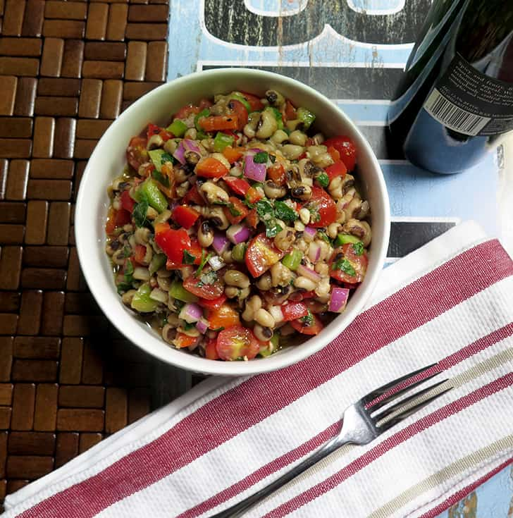 Simple Black Eyed Pea Salad