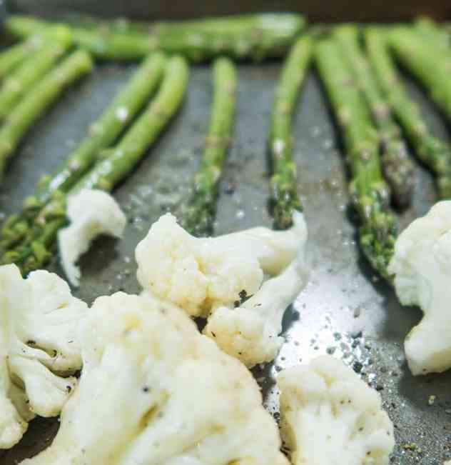 Roasted Asparagus & Cauliflower Salad (Gluten Free)