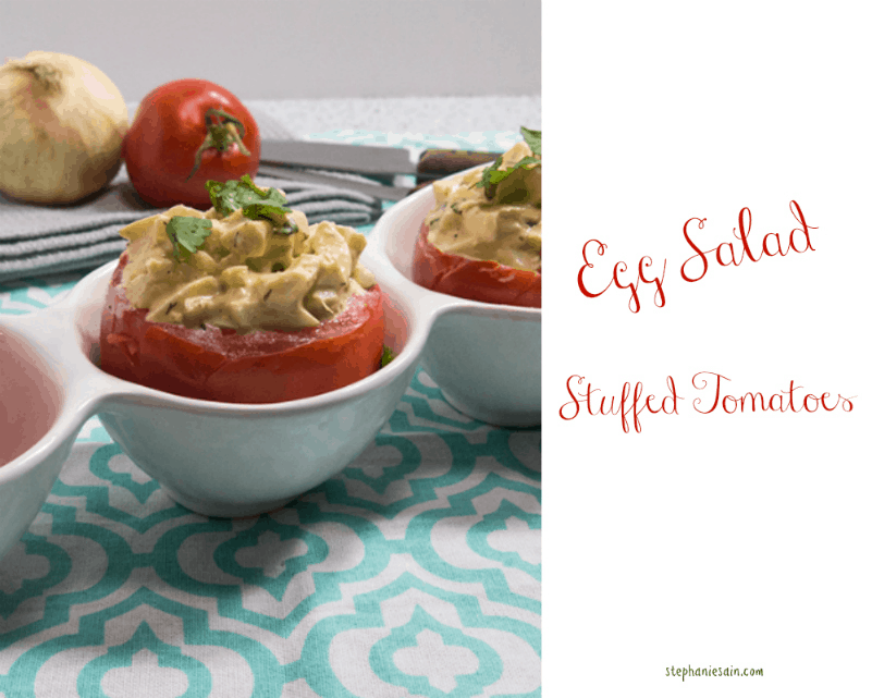Egg Salad Stuffed Tomatoes