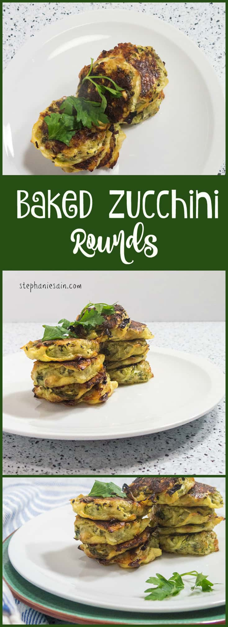 Baked Zucchini Rounds are a tasty, healthy little bite sized treat perfect with almost anything. Also great served as an appetizer. Vegetarian and Gluten Free.