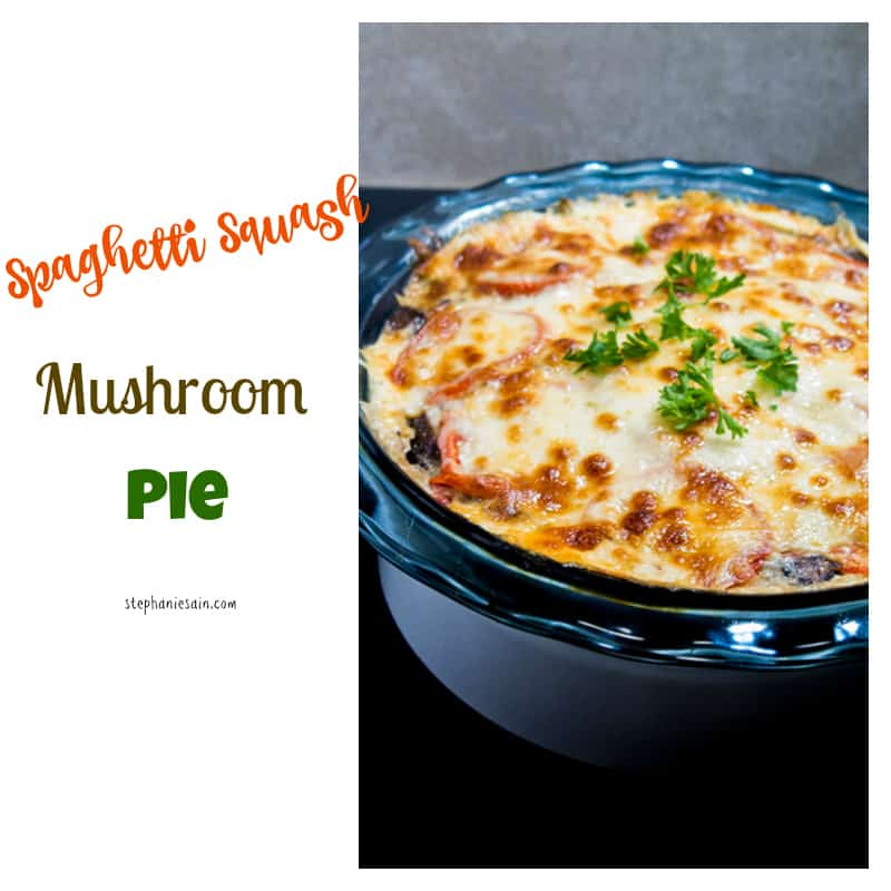 Spaghetti Squash Mushroom Pie