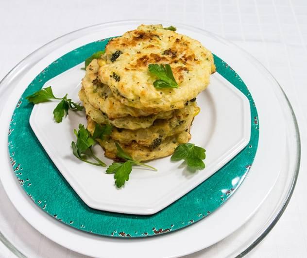 Baked Potato Broccoli Cakes
