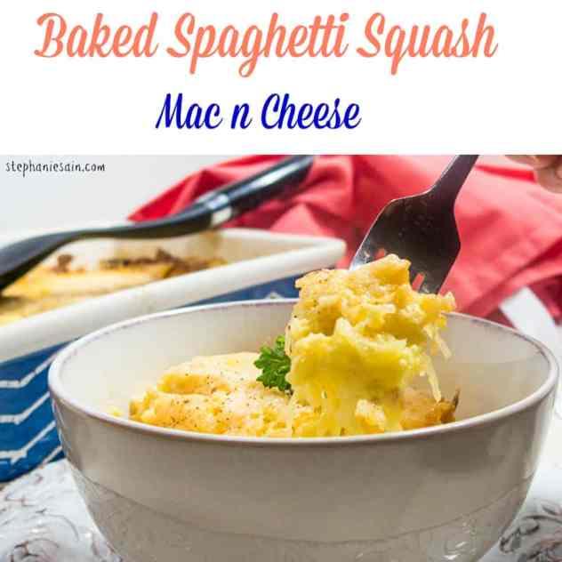 Baked Spaghetti Squash Mac n Cheese