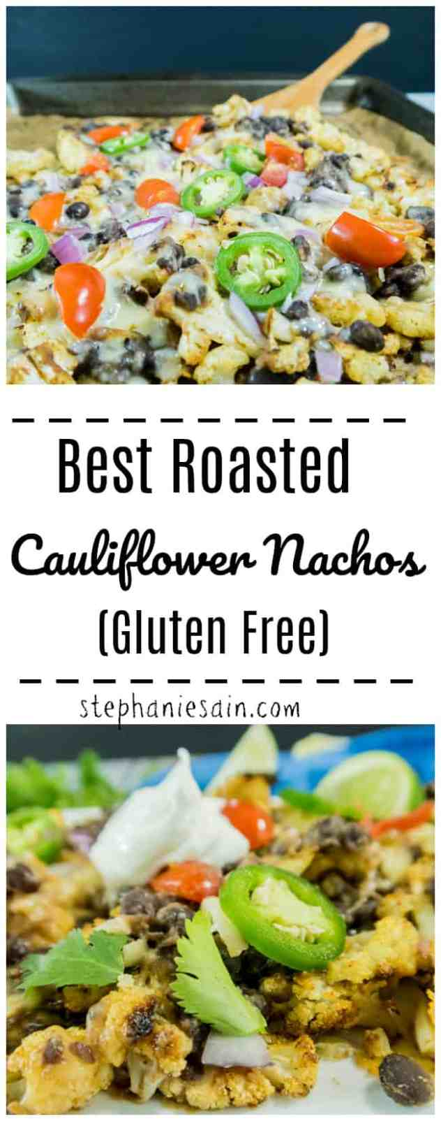 These Best Roasted Cauliflower Nachos are perfectly seasoned & then roasted to perfection. Then customizable with all your favorite nacho toppings. Gluten Free, Vegetarian, & the Nachos are Vegan depending on the toppings you choose.