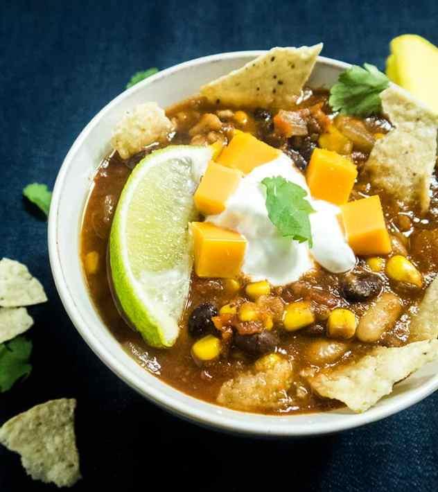 Slow Cooker Vegetarian Taco Soup