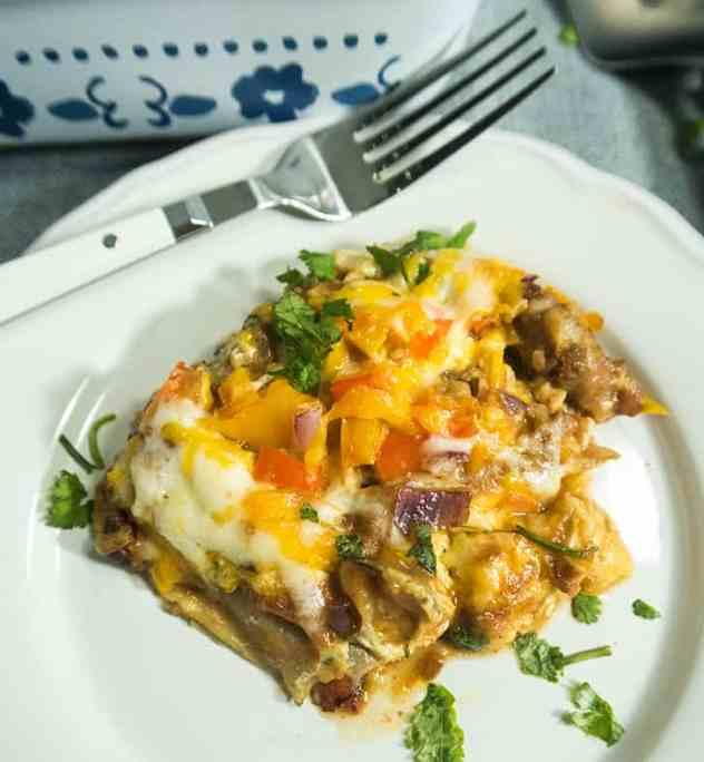 Mexican Vegetarian Zucchini Lasagna