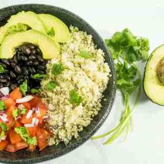 Mexican Cauliflower Rice Burrito Bowl