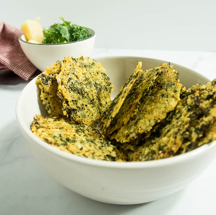 Four Ingredient Parmesan Kale Crisps Recipe