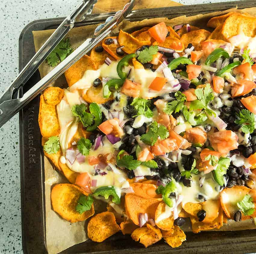Loaded Sheet Pan Sweet Potato Nachos
