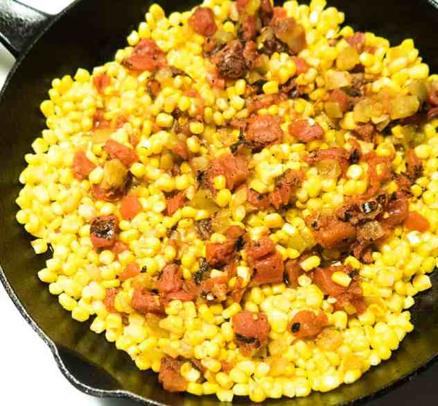 One Skillet Mexican Corn Dip