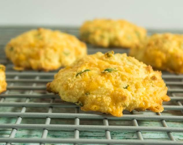 Cheesy Coconut Flour Biscuits