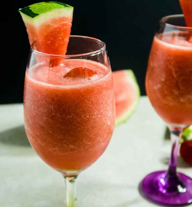 Watermelon Strawberry Slushie