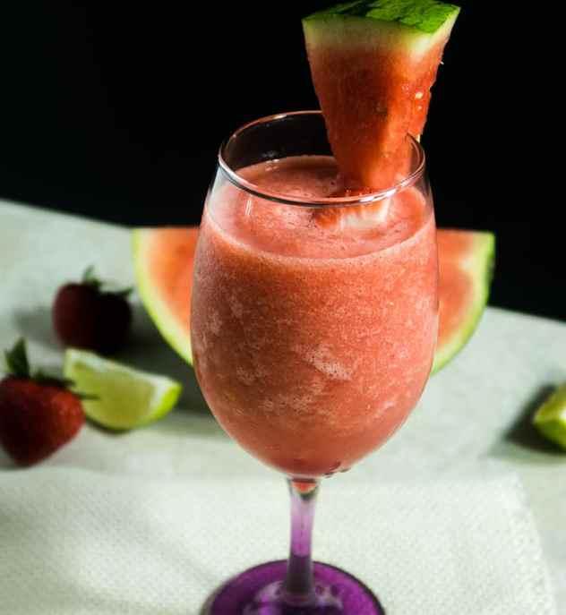 Watermelon Strawberry Slushie