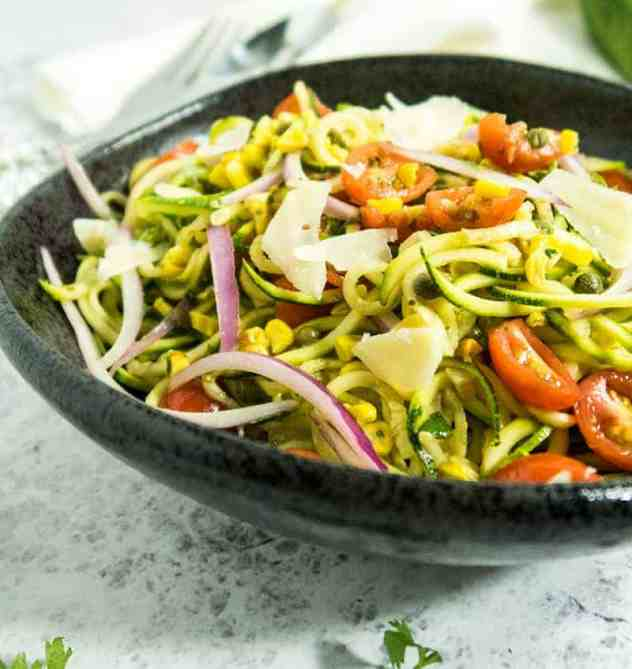 Zoodle & Grilled Corn Salad